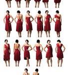 Cinco meninas e um vestido