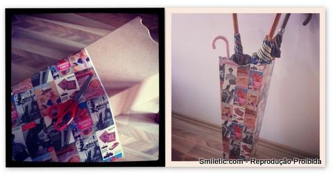 porta guarda-chuva mdf e papel contact