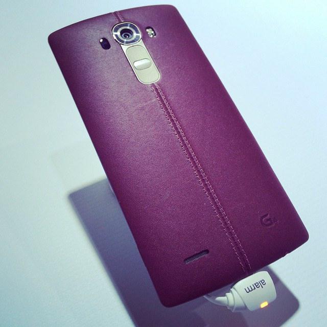 LG G4 Couro Vermelho