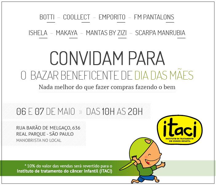Bazar Beneficiente Dia das Mães ITACI