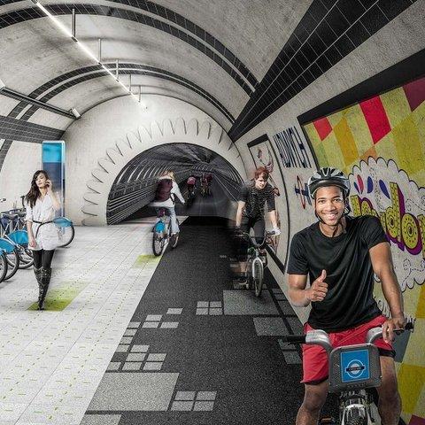 Projeto propõe ciclovias subterrâneas em Londres