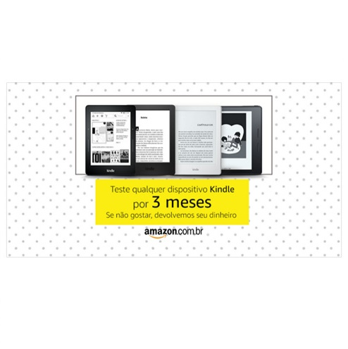 Amazon te dá a chance de testar um Kindle por 3 meses de graça
