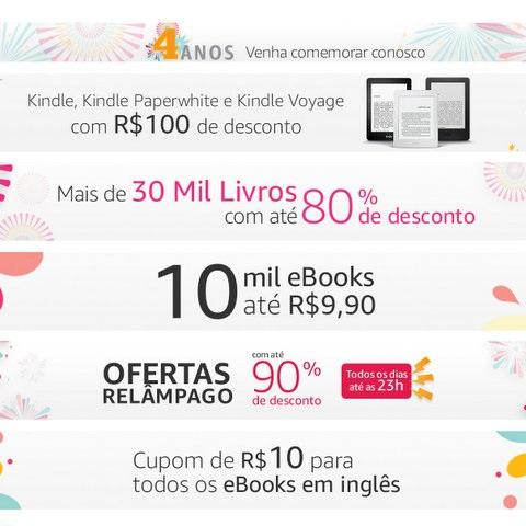 Amazon comemora 4 anos de Brasil