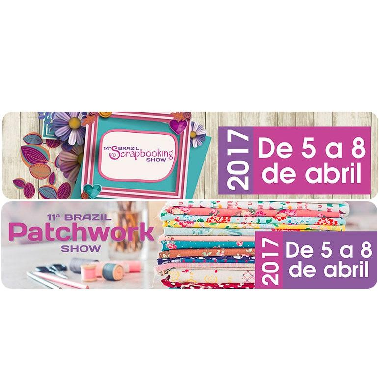 11ª Brazil Patchwork Show e 14ª Brazil Scrapbooking Show acontecem entre os dias 05 e 08 de abril em São Paulo
