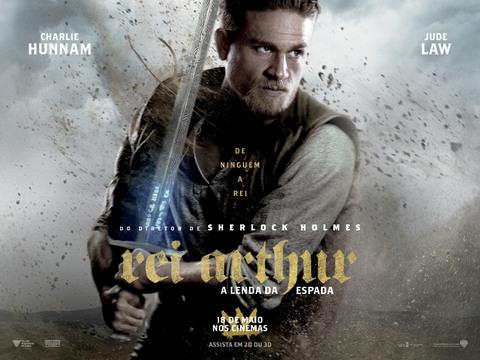 Rei Arthur A Lenda da Espada Charlie Hunnam Jude Law Guy Ritchie