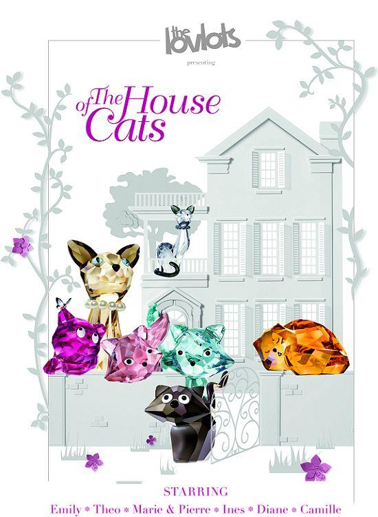 Coleção House Of Cats By Swarovski