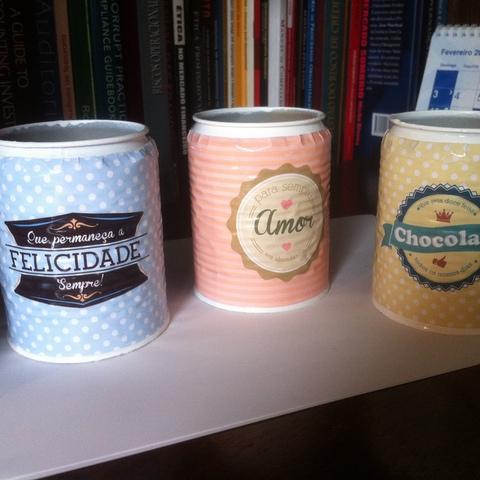 DIY: transformando latinhas em vasos