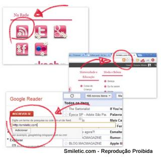 adicionando assinaturas ao Google Reader
