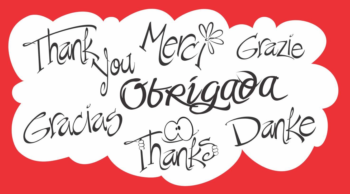 Um obrigada ou dois...