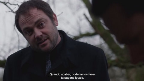 Supernatural: Blade Runners 9x16 s09e16 crowley matching tattoos