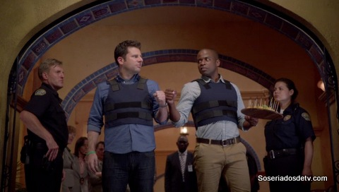 Psych: Someone's Got a Woody 8x4 s08e04 shawn gus pizza