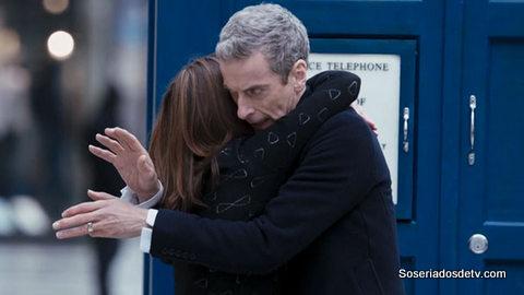 doctor who s08e01 doctor clara hug