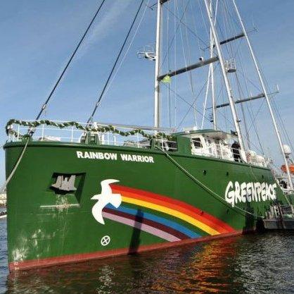 Rainbow Warrior do Greenpeace aberto a visitação no Rio de Janeiro