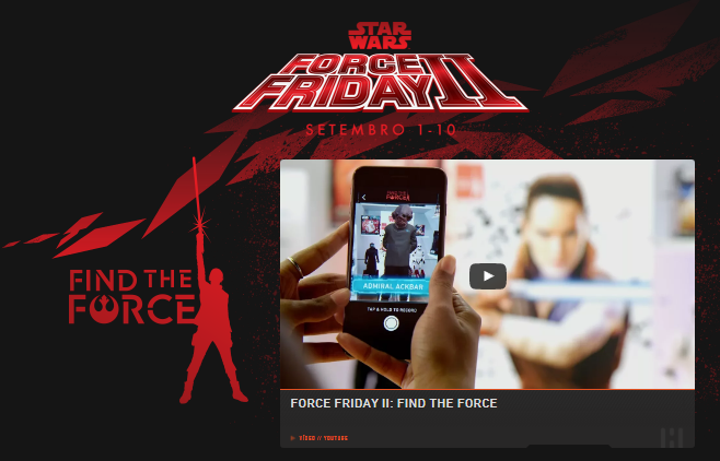 Disney e Lucasfilm promove Force Friday II