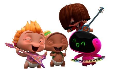 Mini Beat Power Rockers - Os bebês roqueiros do Discovery Kids