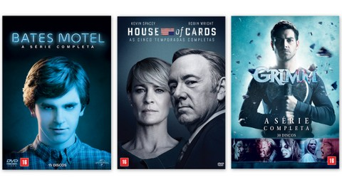 Lucky Man, House Of Cards, Grimm e Bates Motel em DVD