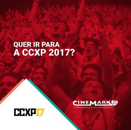 Cinemark lança concurso cultural valendo ingressos para a CCXP17