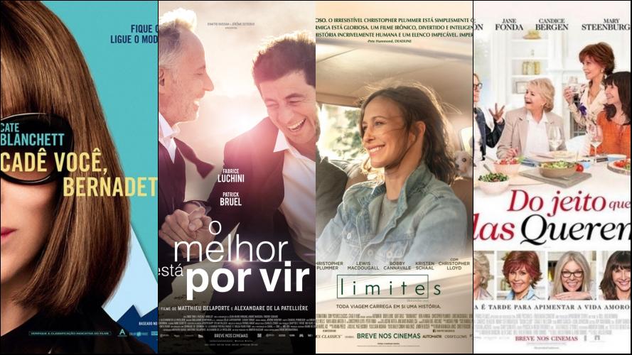"""12 Filmes com protagonistas """"#over40"""""""