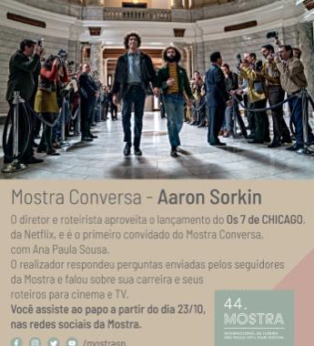 Mostra Conversa: Aaron Sorkin #mostrasp